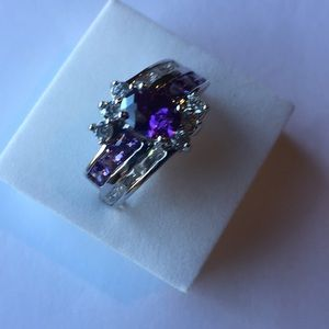 Stamped925(sterling silver) 1 CARAT Amethyst size9